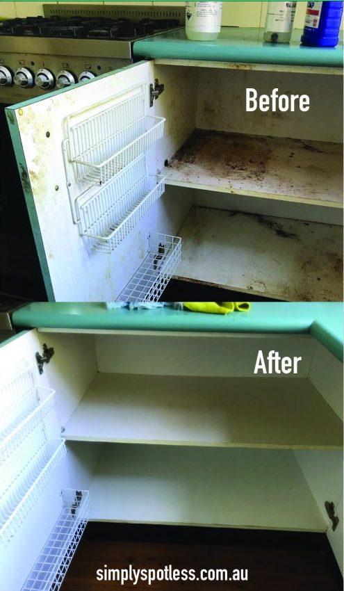 clean kitchen cabinets