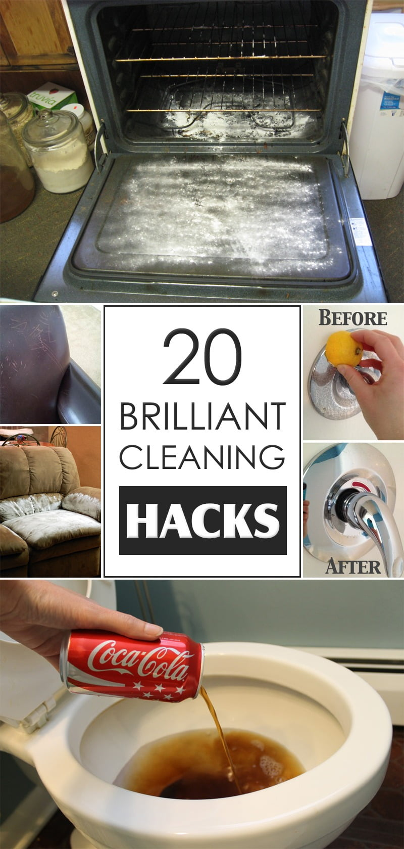 20 Brilliant Cleaning Hacks