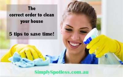 The correct order to clean your house efficiently