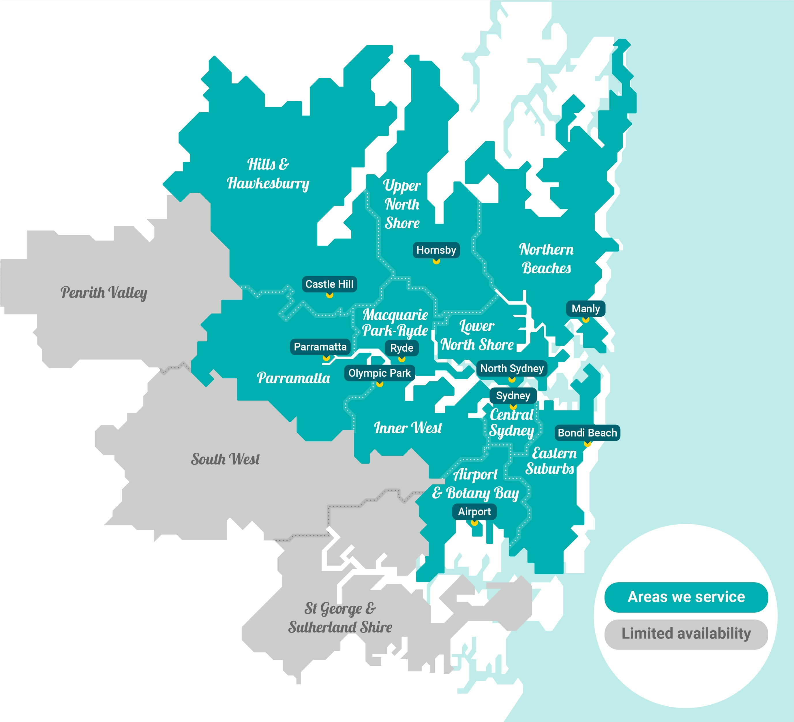 Apartment and House Cleaning Sydney Service Areas