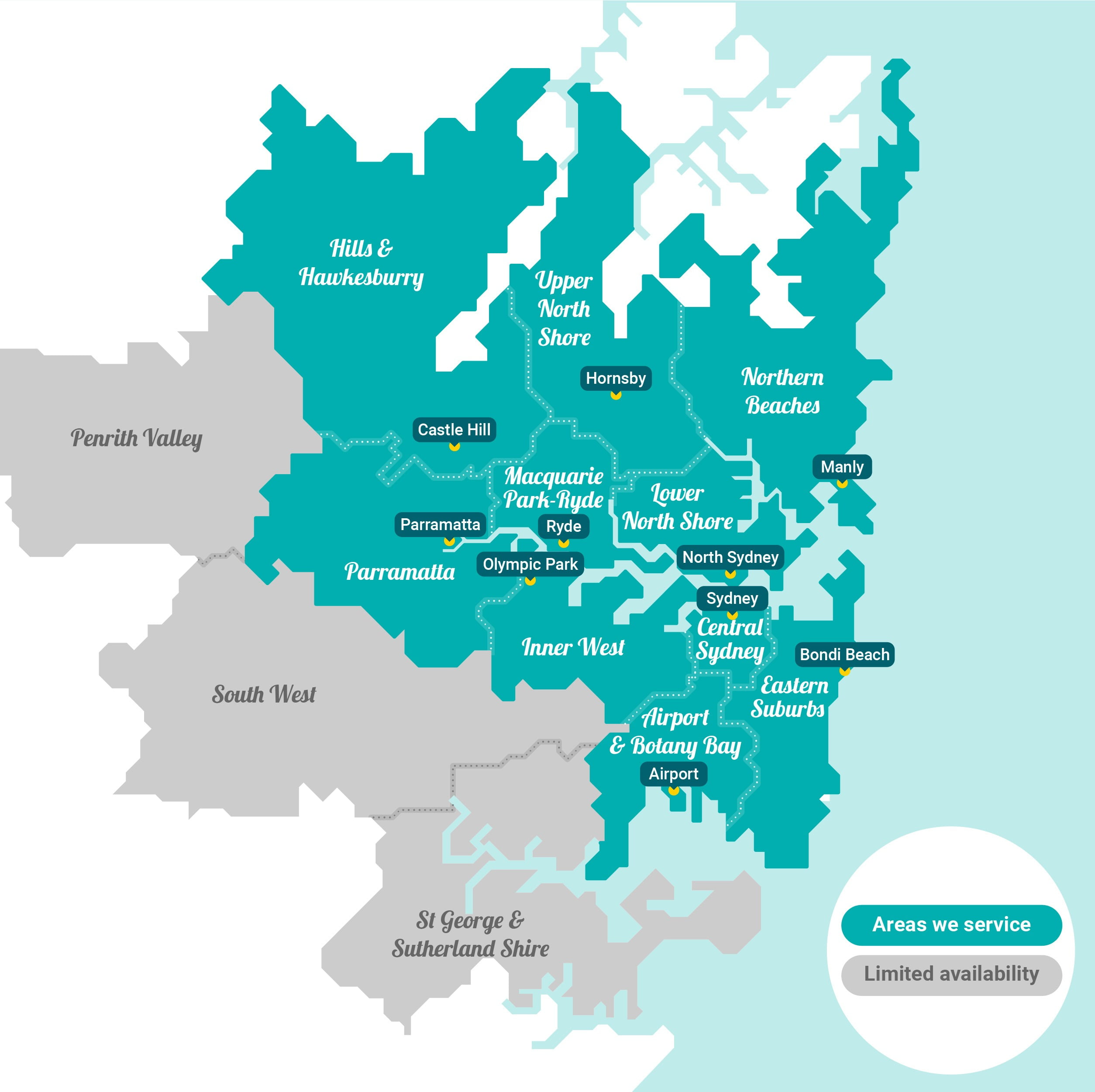 End Lease Cleaning Sydney Service Areas