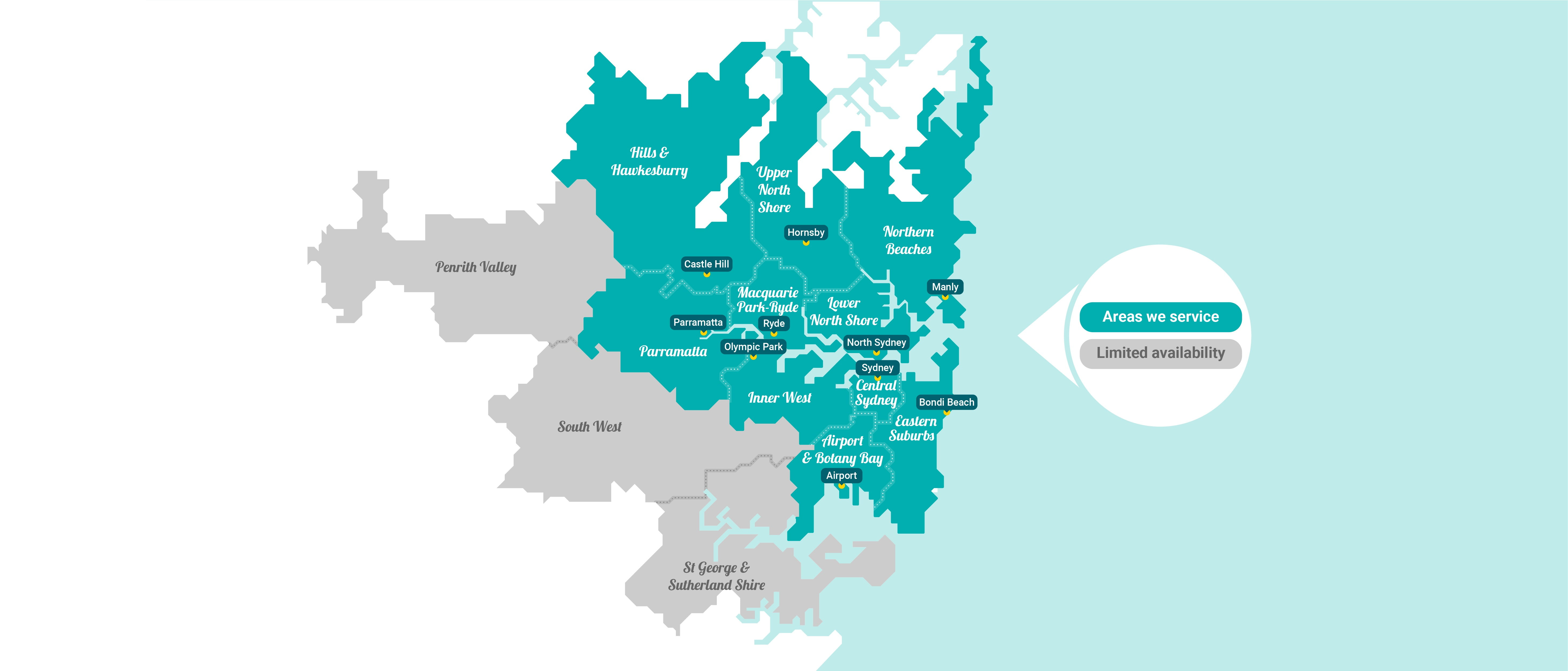 Home Cleaning Sydney Service Areas