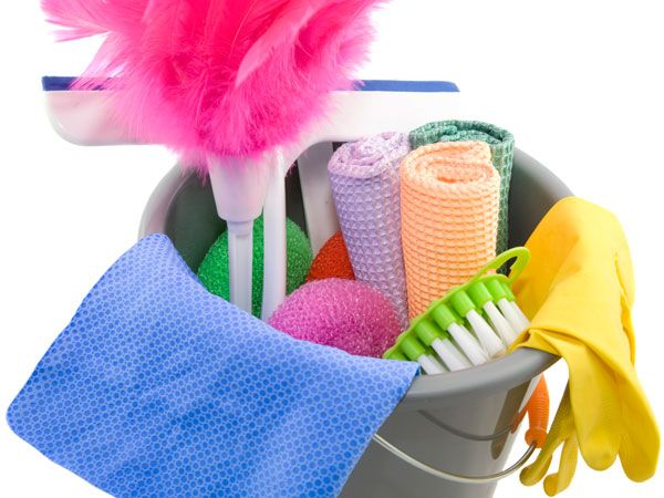 cleaning caddy for clutter cleanup