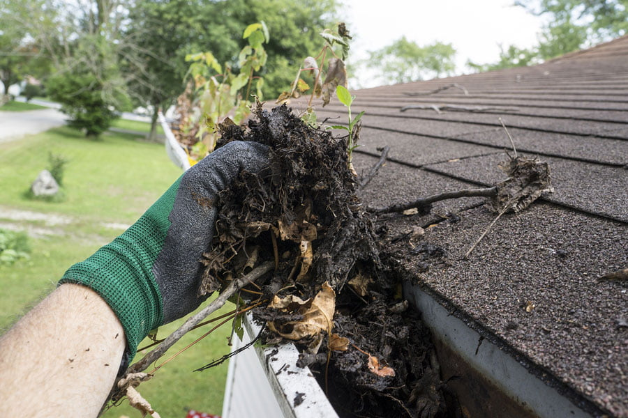 tips spring cleaning house outside gutters