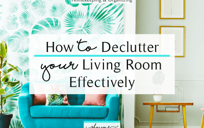 Cleaning Tips – Decluttering Your Living Room