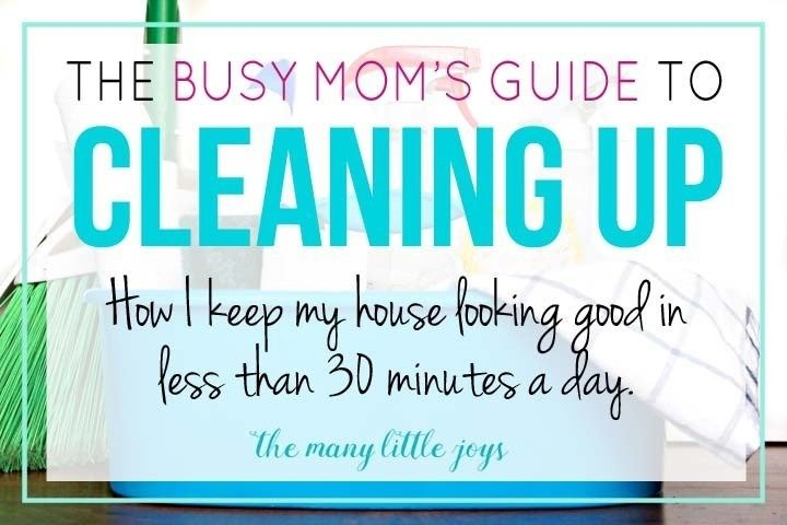 cleaning tips busy mums
