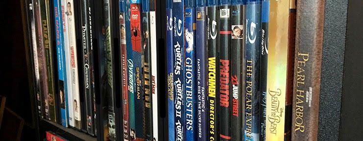 decluttering your living room - dvds